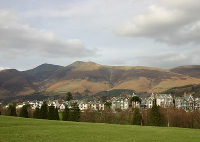 Keswick Fells from the park